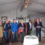 vlaggenmastceremonie met bestuur KZV Oostergoo, 02-07-2016